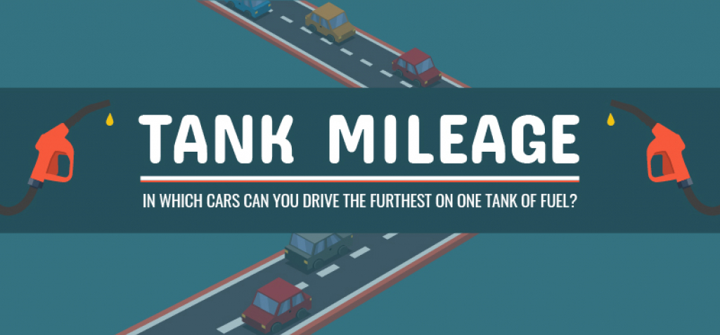 In which cars can you drive the furthest on one tank of fuel?