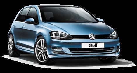 Blue volkswagen golf car finance